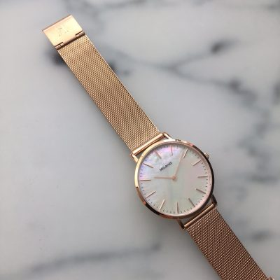 Melrose Rosé Gold Seashell 38mm