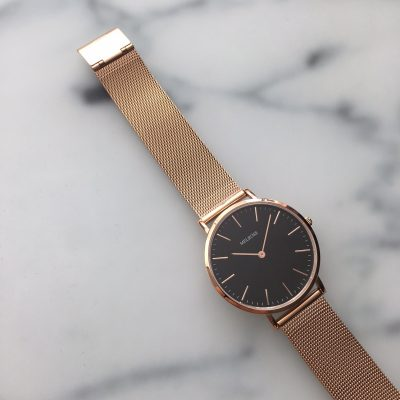 Melrose Rosé Gold Black 38mm