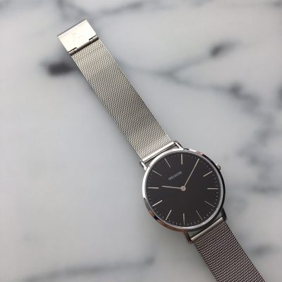 Melrose Silver Black 38mm